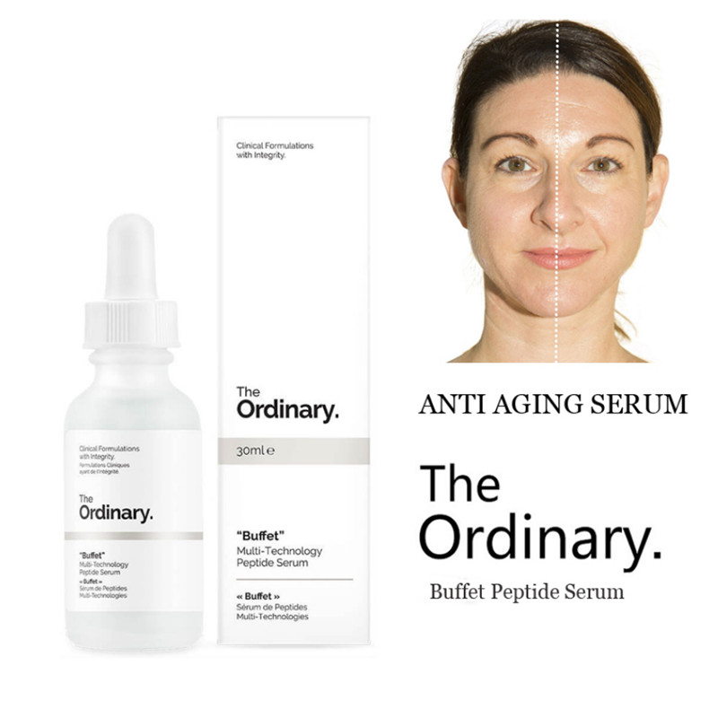 The Ordinary 30ml Buffet Multi-Technology Peptide Serum Target Anti Aging Face Serum Firming Anti Wrinkle