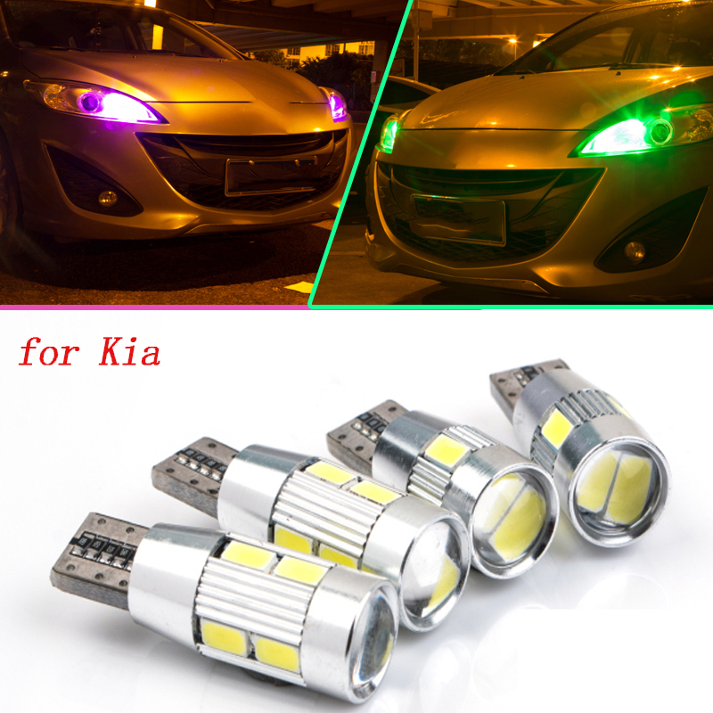 2pcs safe T10 LED Front Parking Light Bulb Source Car Styling for Kia Rio 1 2