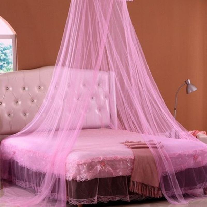 Baby Children Elegant Lace Bed Dome Elegent Lace House Bed Netting Canopy Circular Pink Malla De Round Dome Bedding Mosquito Net in Mosquito Net from Home Garden