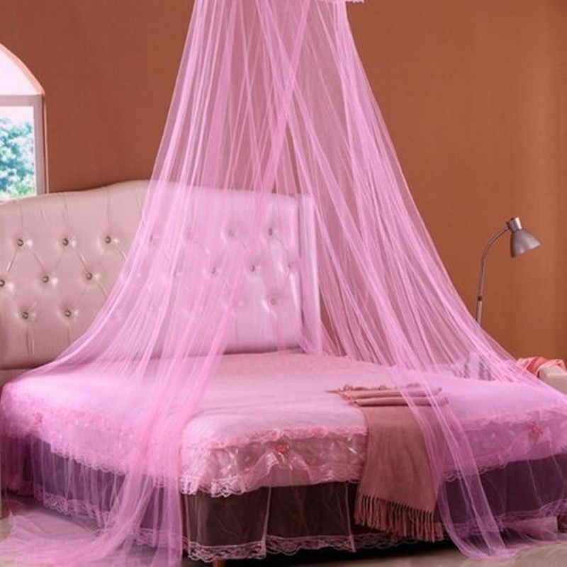 Baby Children Elegant Lace Bed Dome Elegent Lace House Bed Netting Canopy Circular Pink Malla De Round Dome Bedding Mosquito Net