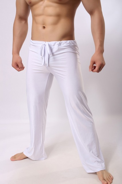 eac9a3e8c4e9b Mens Pants Mens Sleep Bottoms Viscose Home Pants Loose Sexy Mens Lounge  Pants Milk Silk Fashion