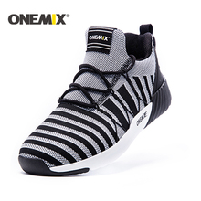 ONEMIX New Running Shoes men warm height increasing shoes me