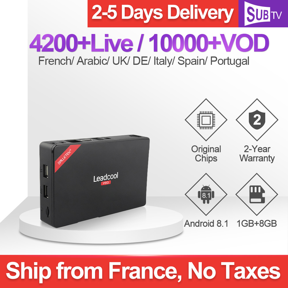 Leadcool Pro Android 8.1 TV Box Iptv France 4k RK3229 With 1 Year SUBTV Iptv Arabic Italian Spain Netherlands Uk Subscription-in Set-top Boxes from Consumer Electronics
