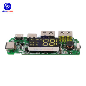 Image 3 - LED Dual USB 5V 2.4A Micro/Type C/Lightning USB Power Bank 18650คณะกรรมการชาร์จOvercharge overdischargeป้องกันการลัดวงจร