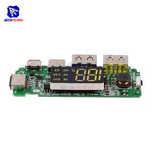 Image 3 - LED çift USB 5V 2.4A mikro/tip c/yıldırım USB güç bankası 18650 şarj kartı Overcharge aşırı deşarj kısa devre koruması