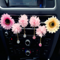 Car Air Freshener Car Interior Pendant Air Freshener Pink flower pendant