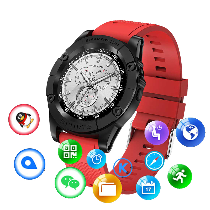 Fashion&Sport Smart Watch Men Support TF&SIM Card Pedometer Camera Bluetooth Smartwatch For Android Phone PK DZ09 Apple Watch