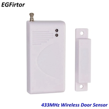 цены Wireless Door Window Alarm Sensor 433MHz 1527 Code Battery Door Contact Sensor For GSM Alarm System Detect Window and Door