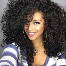22″ Afro Kinky Curly Synthetic Wig Female Wig Hair Long Kinky Afro Curly Hair Synthetic Women's Wigs for Black Women