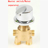 4 Interface bathroom bathtub water separator/master switch, 4 Types brass shower room mixing valve faucet accessories