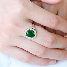 Modyle Silver Color Wedding Rings Female Jewelery with Green Stones Women Accessories Jewelry Ring Bague Femme Anel Lovers' Gift(China)