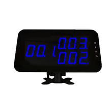 Ycall Brand Guest waiter calling system wireless display receiver for restaurant service 3-digit LED monitor K-4-C-blue