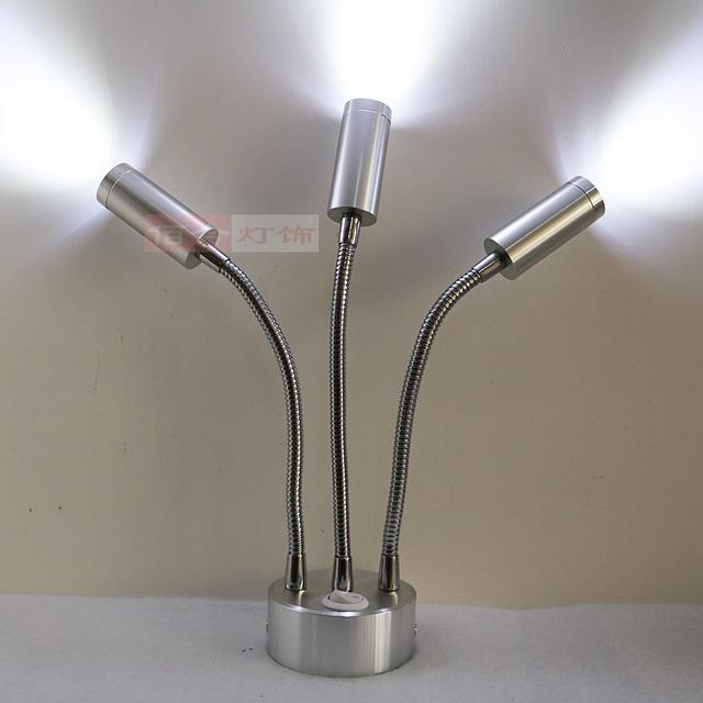 Batería recargable de la lámpara LED de la lámpara de la lámpara de pared instalado manguera inalámbrico lámpara del gabinete luces de la tienda de ventana de celosía