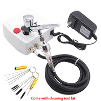 with cleaning tool kit Dual Action Airbrush with Compressor Paint Spray Gun For Nail Art Tattoo cake mini air brush Compressor