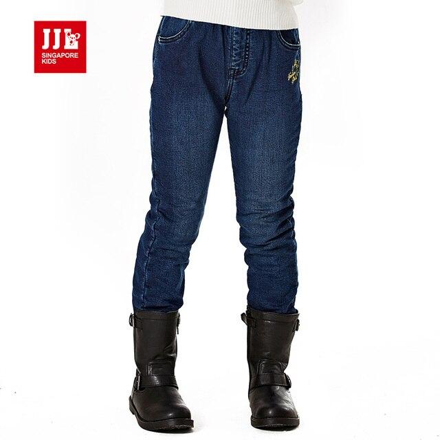 2015 мода зима девушки джинсы вышивка новорожденных девочек джинсы дети джинсы дети эластичные soild синие джинсы