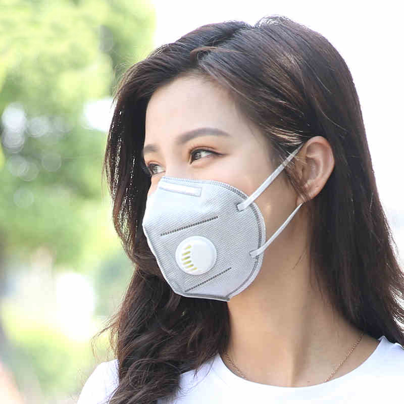 Droppshiping 10 Pcs Disposable Activated Carbon Mouth Face Mask Non-Woven Fabric For Outdoor Dg88