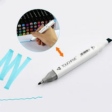 1PC Mark Pen Mild liner Double Headed Fluorescent Pen Cute Art Highlighter Drawing Mark Pen Stationery(China)