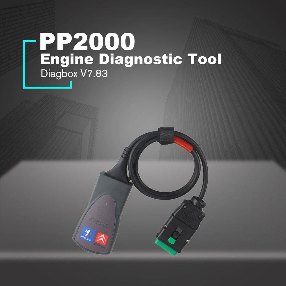 PP2000 Lexia 3 OBDII OBD2 Diagbox Nouvelle V7.83 Automobile Moteur Outil de Diagnostic pour Citroen Peugeot Voiture