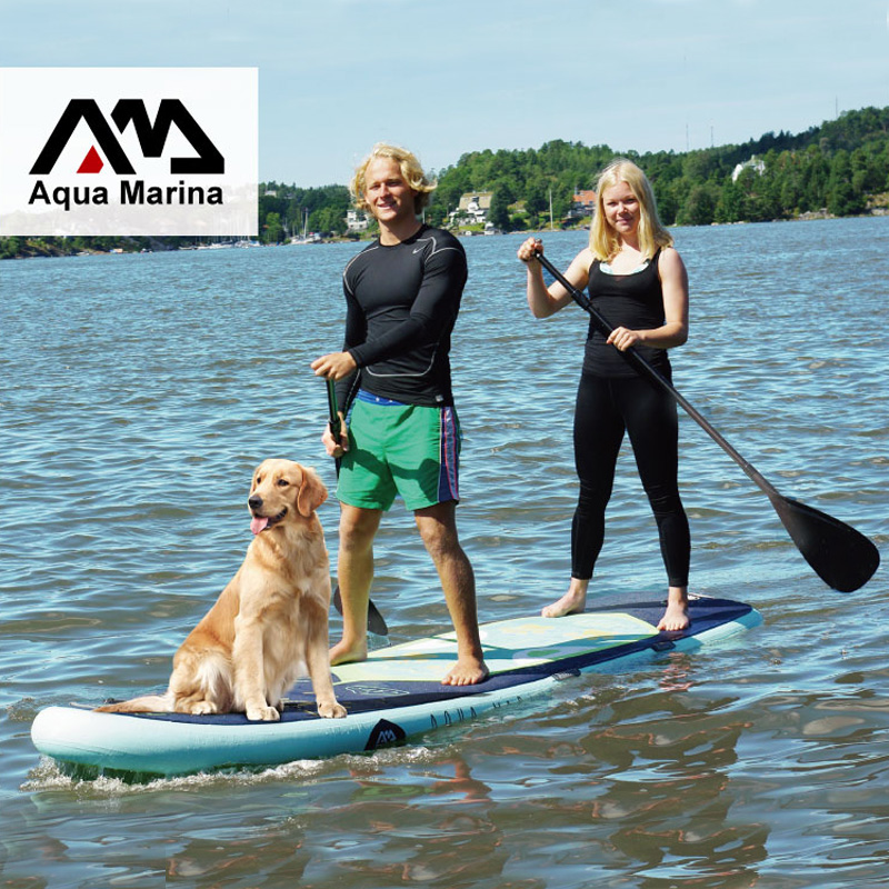 * 370*87*15 CM AQUA MARINA SUPER viaje inflable sup stand up paddle Junta inflable surf tabla de surf kayak inflable de la cámara