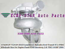 GTA2052 752610-0029 752610-0032 1355066 1219310 1020183 752610 Turbo For Land-Rover Defender For Ford Transit Puma Duratorq 2.4L