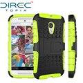 Directopia dual layer híbrido defensor kickstand armadura capa protetora phone case para moto g2 g + 1 motorila case com kickstand