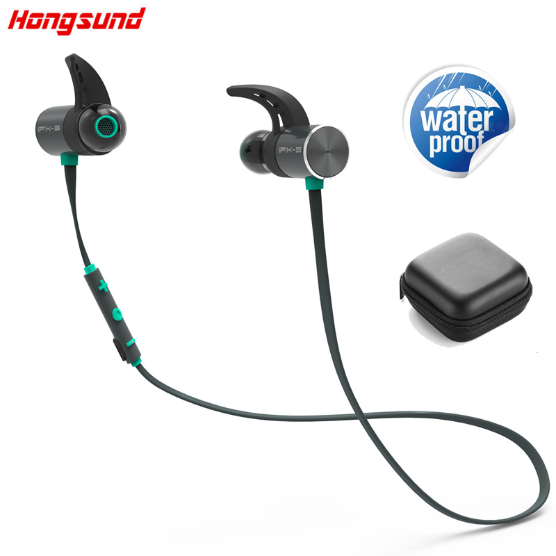 Hongsund HB806 Bluetooth Headphone Wireless IPX5 Waterproof Earbuds Dual Battery Magnetic Headset Sport Earphone With Mic phone