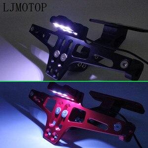 Image 4 - Soporte para marco de placa de matrícula para motocicleta CNC, LED para DUCATI Hypermotard 796 821 939 950 ST4S 1100 748, accesorios