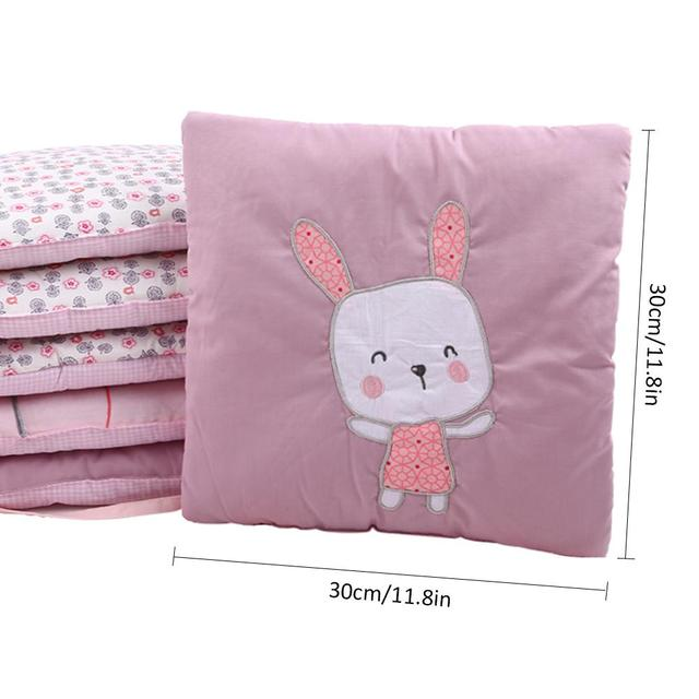 Lovely Infant Crib Bumper Bed Protector Baby Kids Cotton Cot Nursery Bedding House Bumper For Boy And Girl