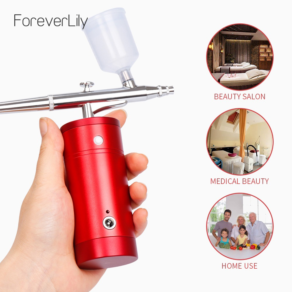 Portable Spray Handheld Mini Airbrush Air Compressor Facial Skin Moisturizing Injection Oxygen Beauty Skin Care Equipment