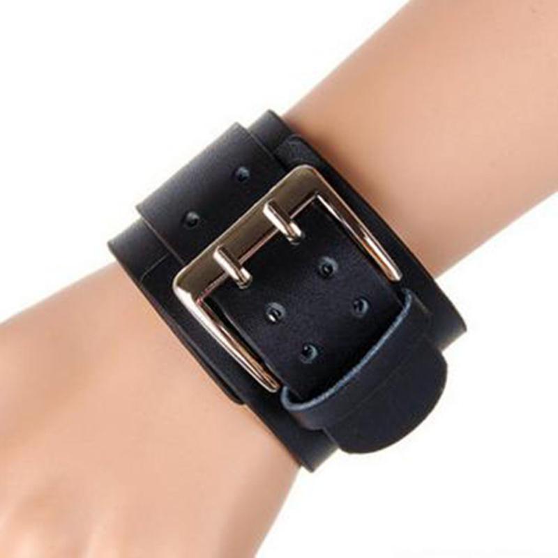 Unisex PU Leather Wide Cuff...