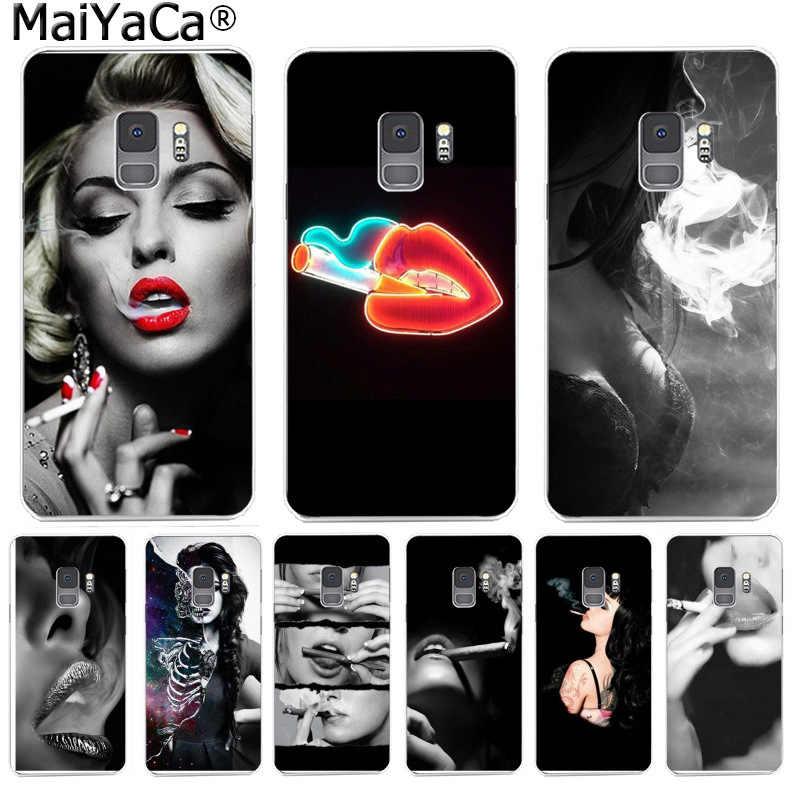 MaiYaCa セクシーな女性のタバコの喫煙ファッション電話サムスン S9 S9 プラス S5 S6 S6edge S6plus S7 S7edge s8 S8plus