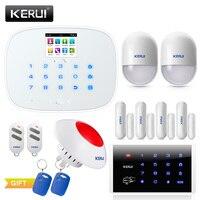 KERUI 2019 Новый W193 3g wifi PSTN GSM домашняя охранная сигнализация наборы ЖК 2,4 дюймов TFT цветной экран дисплей сигнализация s