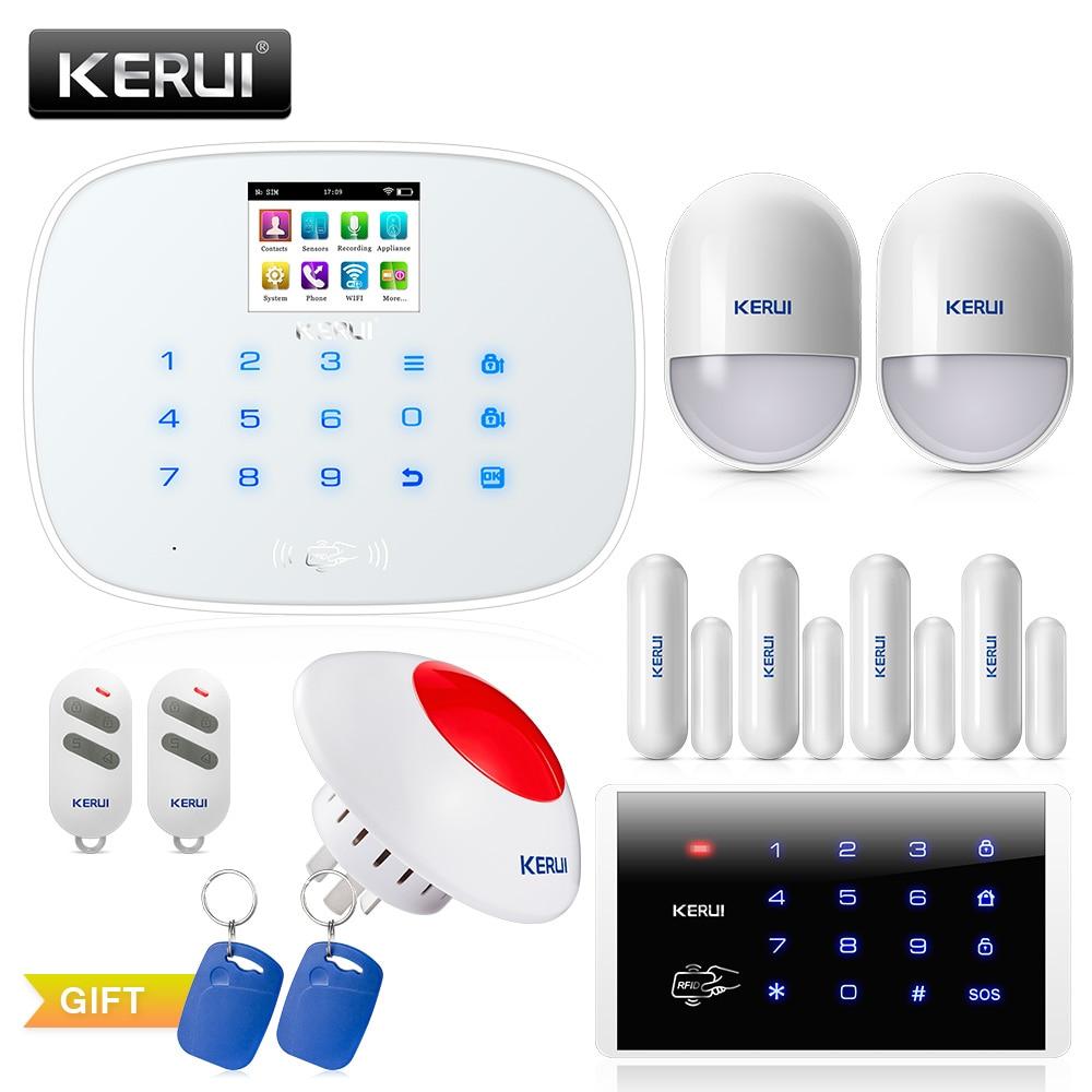 KERUI W193 3G PSTN LCD systèmes d'alarme intelligents sécurité à domicile alarme GSM RFID IOS Android APP contrôle systèmes d'alarme WIFI sans fil