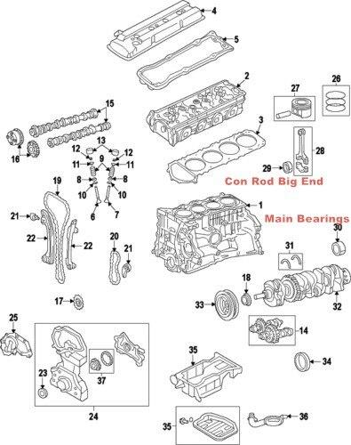 G4kd 0 25 Main Bearing Connecting Rod Bearing For Fithyundai Sonata