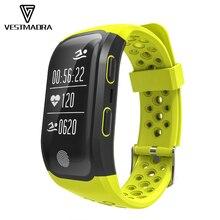 [Vestmadra] S908 GPS умный Браслет IP68 Водонепроницаемый smart Сердечного ритма Мониторы вызова/сообщение напоминание Sports Tracker браслет