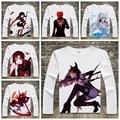New Printed Anime Rwby T Shirt Girls Men Fashion Cartoon Ruby Weiss Cosplay Long Sleeve t-shirt tops Tee Free Shipping YD-021