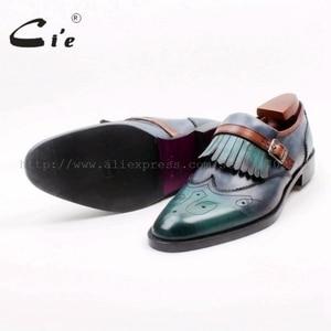 Image 5 - Cie Ronde Neus Vol Brogues Cut Outs Kwasten Gespen Loafer 100% Echt Leer BreathableOutsole Man Flats Schoen loafer169