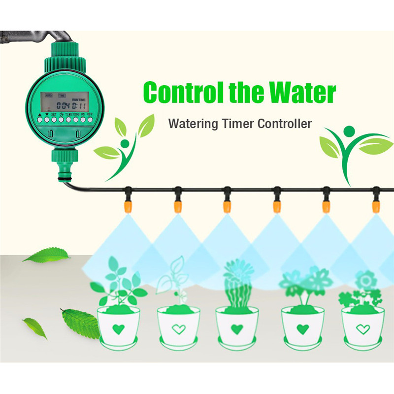 Automatic Electronic LCD Display Intelligent Water Timer Garden Watering Timer Irrigation Controller System Solenoid Valve 2019(China)