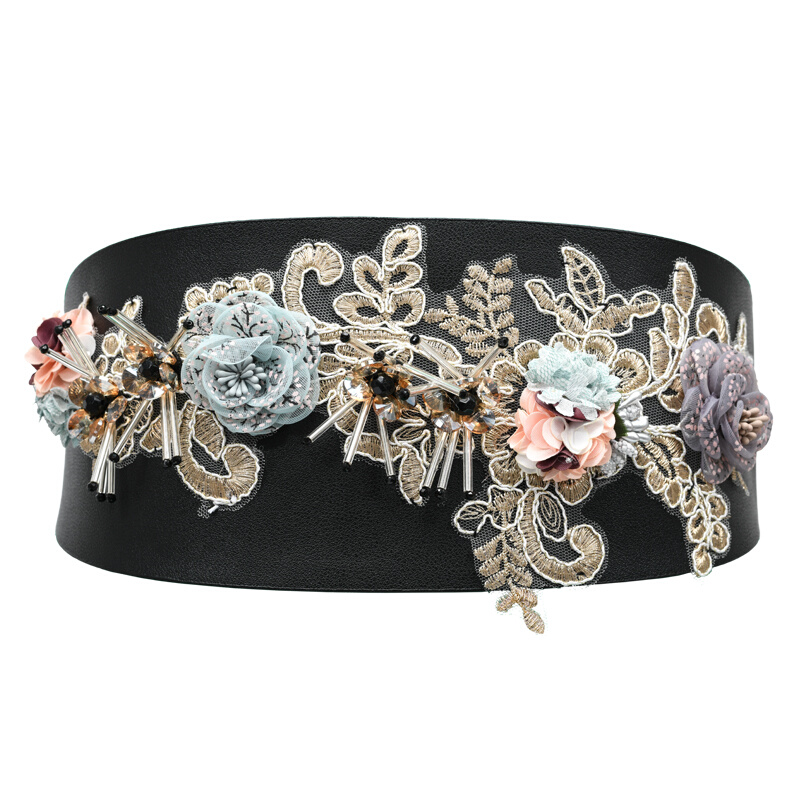 2019 Corset Wide Floral Belts Slimming Body Belts For Women Waistband Feminin Ceinture Femme Fajas Dress Waist Band