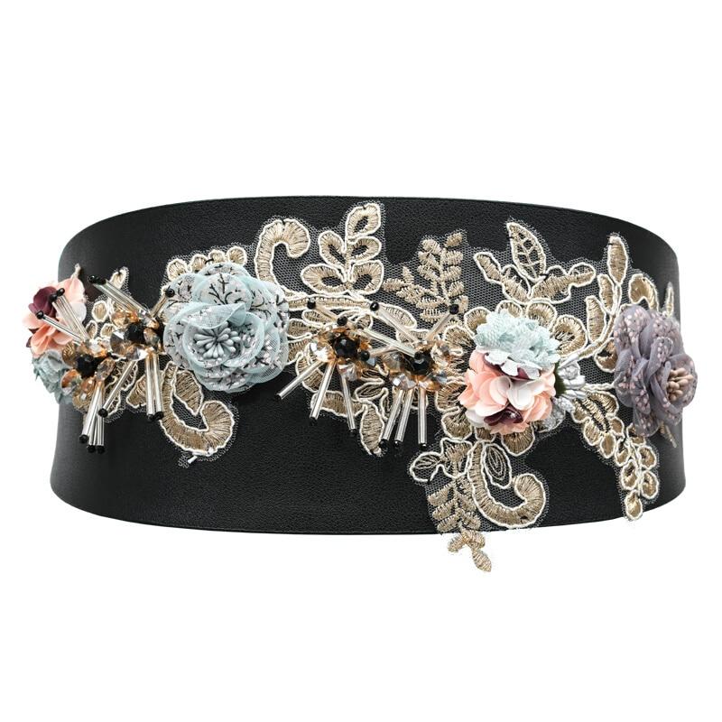 2019 Corset Wide Floral Belts Slimming Body Belts For Women Waistband Feminin Ceinture Femme Fajas Dress Waist Band