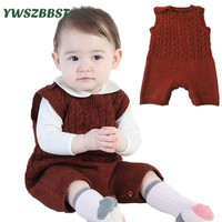 Newborn Infant Baby Romper Crochet Knit Romper Jumpsuit Autumn Winter Warm Baby Rompers One Piece Clothes