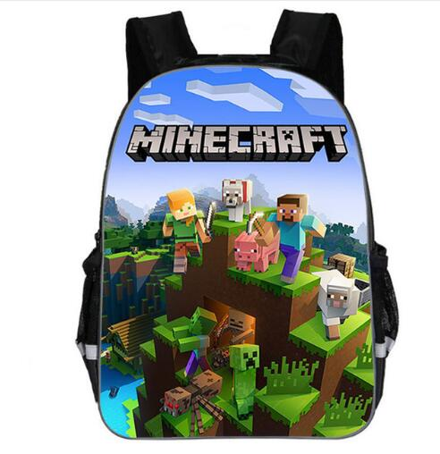 New Minecraft Herobri School Bag For Teenager Boys Girls Kids Personized Schoolbag Supplier Children Hot Game Backpack