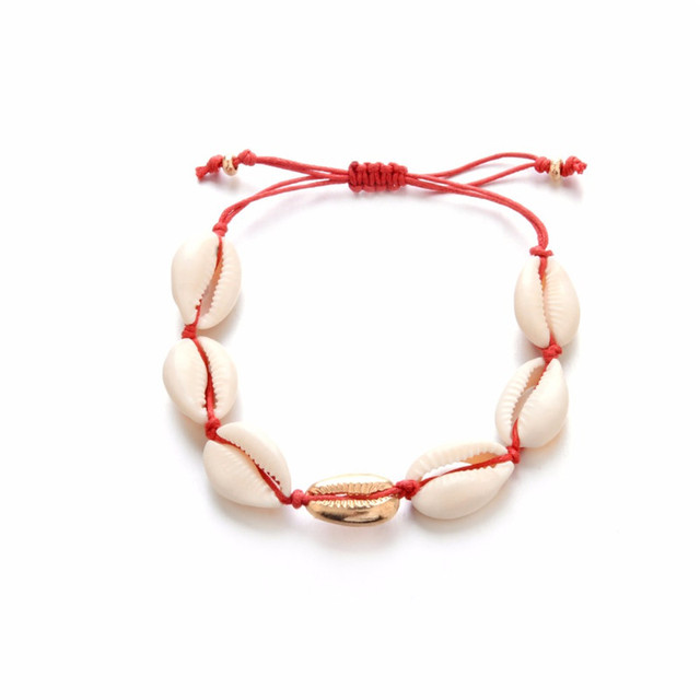 Bohemian Puka Sea Shell Conch Anklets For Women Ankle Bracelet on Leg Chain Silver Gold 4