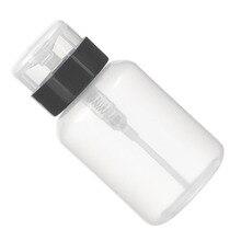210ml Top Quality Empty Pump Dispenser Liquid UV Gel Polish Nail Art Polish Clean Acetone Bottle Polish Cleanser Remover Bottle