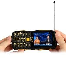 KUH T6 + фонарик беспроводной fm-радио 4000 мАч длительным временем ожидания dual SIM карты mp3 mp4 power bank Аналоговое ТВ прочный мобильный телефон P072