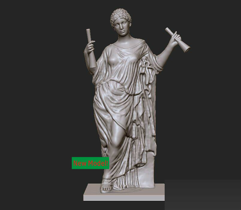 3d model relief  for cnc in STL file format Aphrodite panno hunting 2 for cnc in stl file format 3d model relief