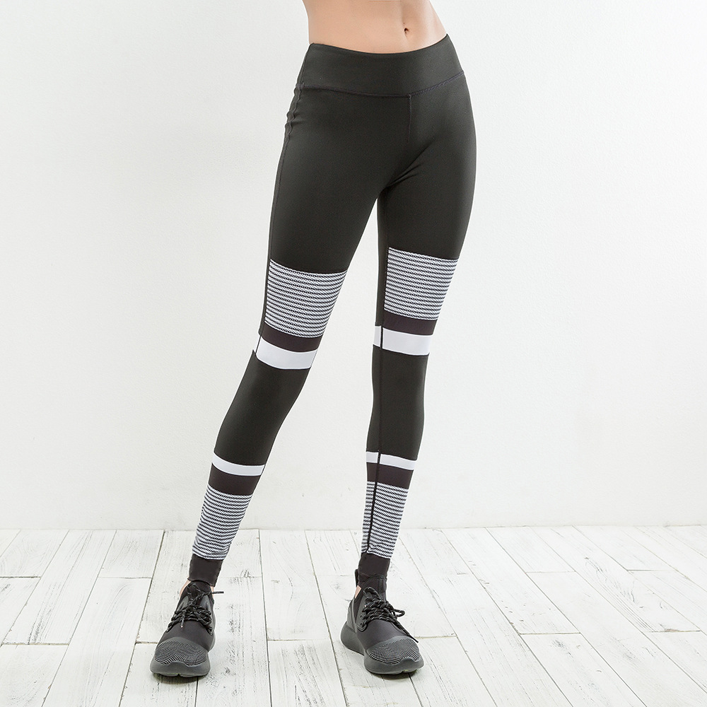 Womens Running Pants Elastic Sport Compression Tights Female Leggings Slim Running Fitness Yoga Pants