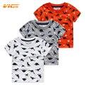 Vicvik marca venta caliente 2017 ropa de verano para niños boy ropa casual camisa de algodón de manga corta camiseta de los niños de los bebés de dinosaurio