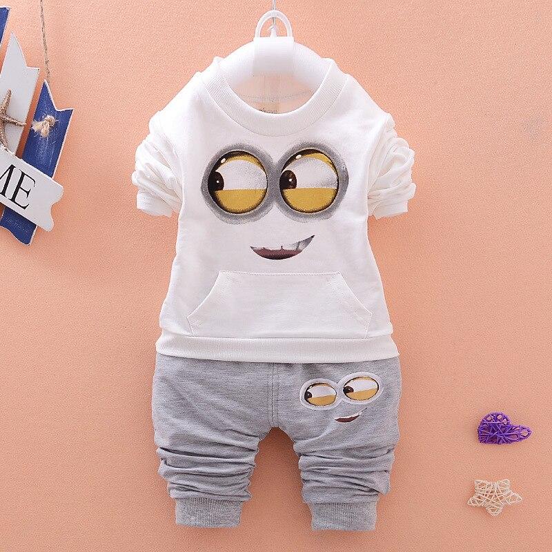 07bd0b3d2 Spring/Autumn Baby Boy Clothes Minion Suits Infant/Newborn Clothes ...