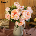 7 heads Artificial peony1 Bouquet Artificial Flowers silk Vivid Peony Wedding flowers centerpiece  Home Party Decoration flore